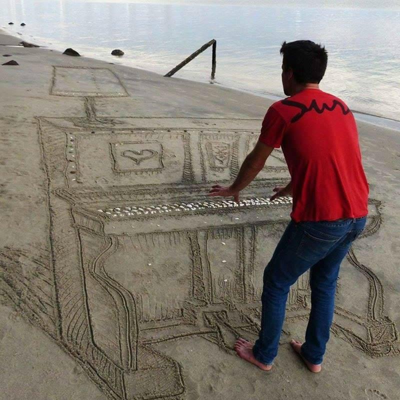 3D Sand Art by Jamie Harkins 2
