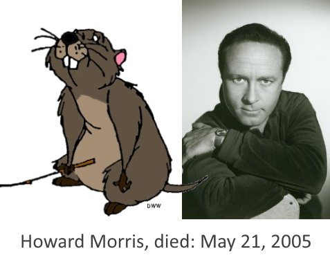 Howard Morris Gopher died on May 21, 2005