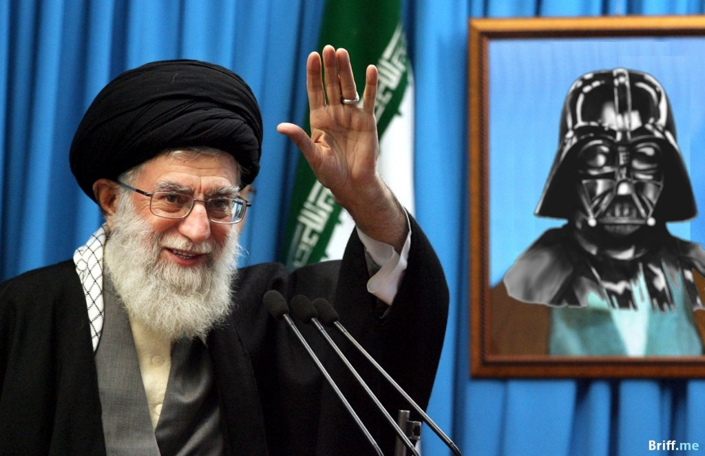Iran Leader Ayatollah Ali Khamenei with Darth Vader from Star Wars - Briff.me