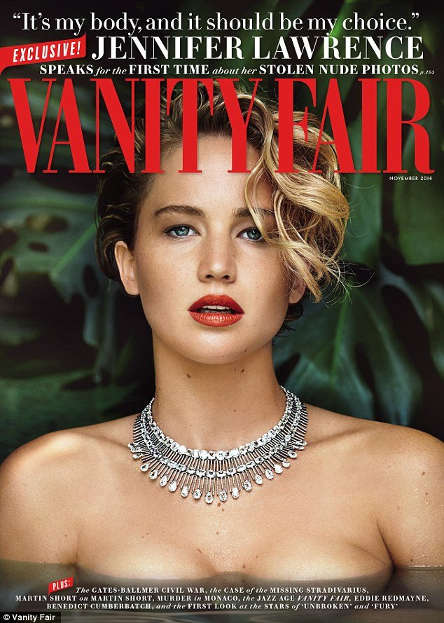 Jennifer Lawrence Vannity Fair Cover
