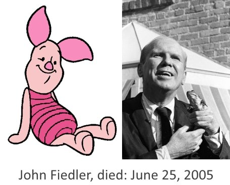 John Fiedler Piglet died on June 25, 2005