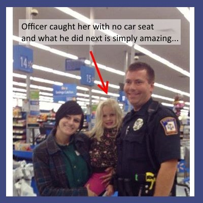 Officer buys woman booster seat