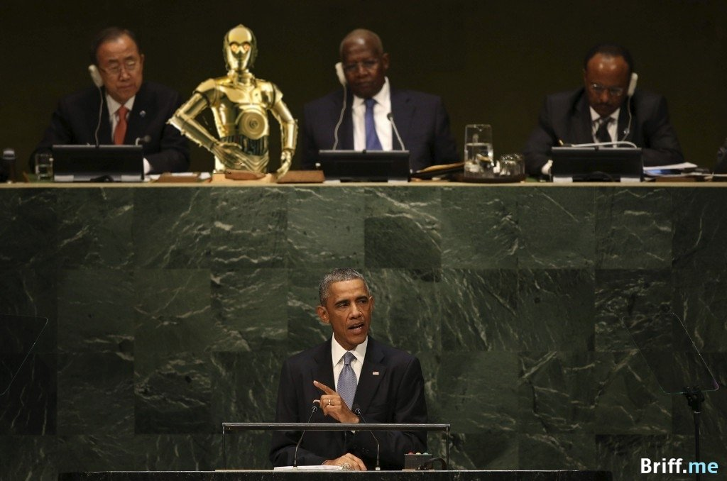 President Obama UN Speech with C3PO from Star Wars as Translator - Briff.me