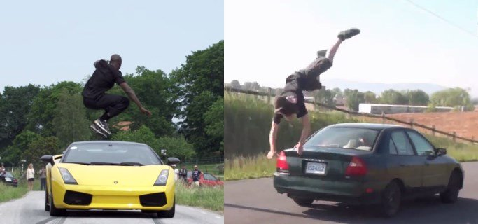 Kobe Jumping Over Car >> Best Jumps Over Cars - Viral Videos