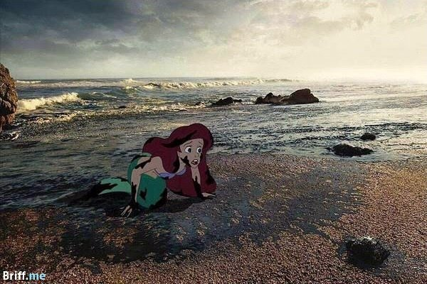 Disney meets Climate Change - Little Mermaid Ariel and the Ocean Pollution