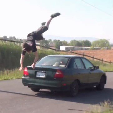 Jump Over Car Fail
