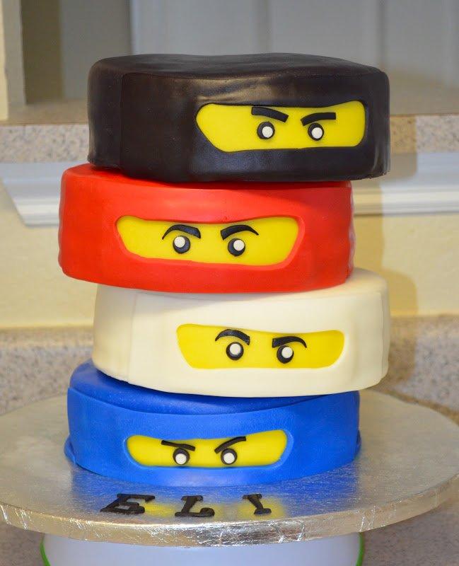 Lego Cake 6 Ninjago Faces
