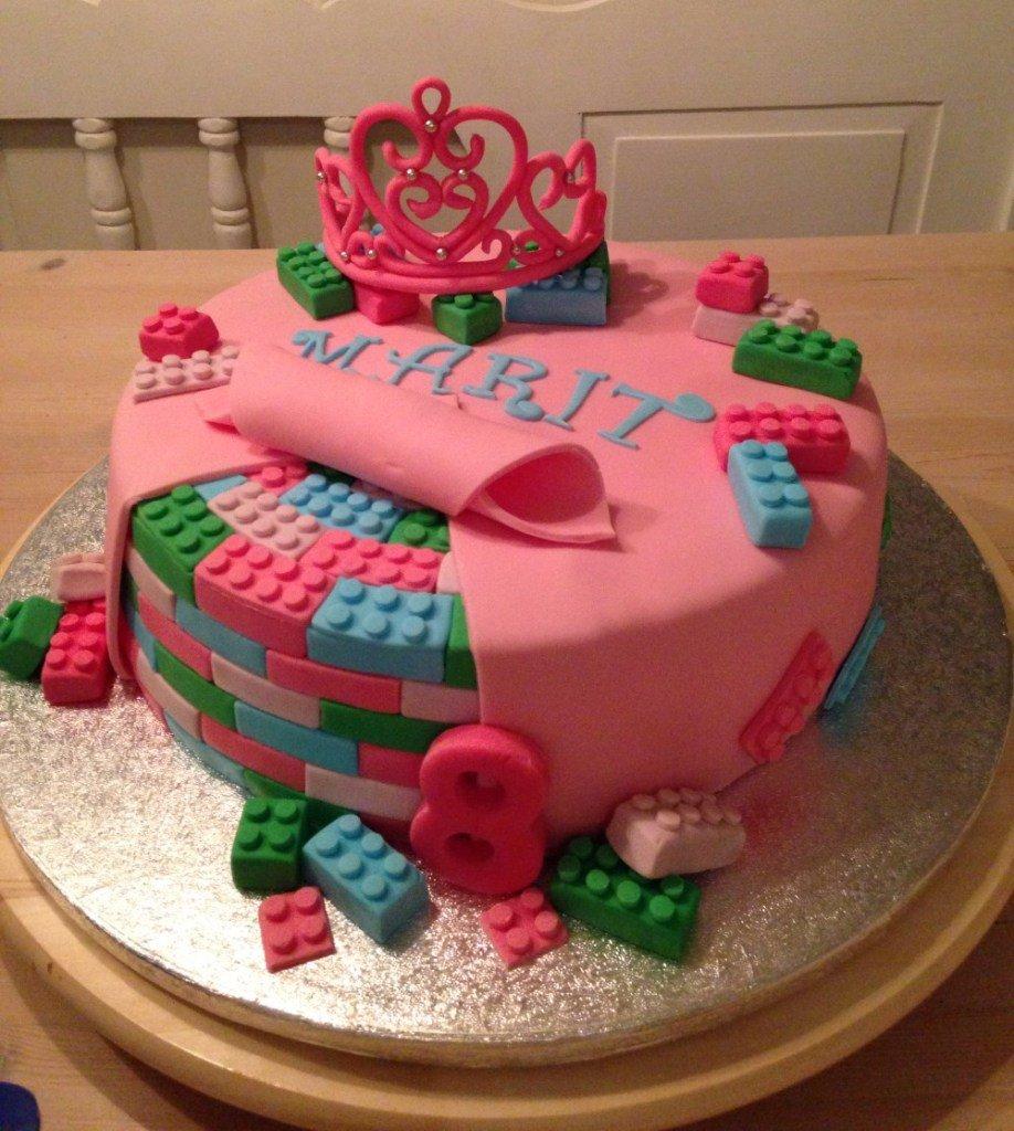 Lego Cake 8 Girls