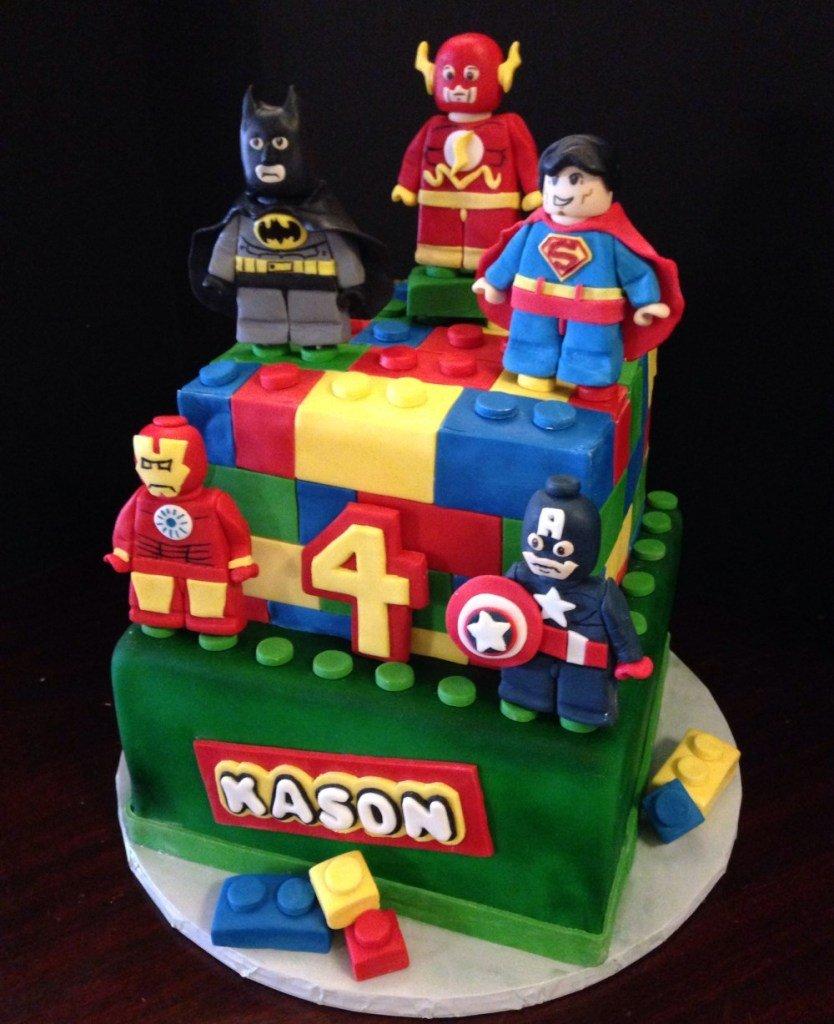 Lego Cake 9 Superheroes