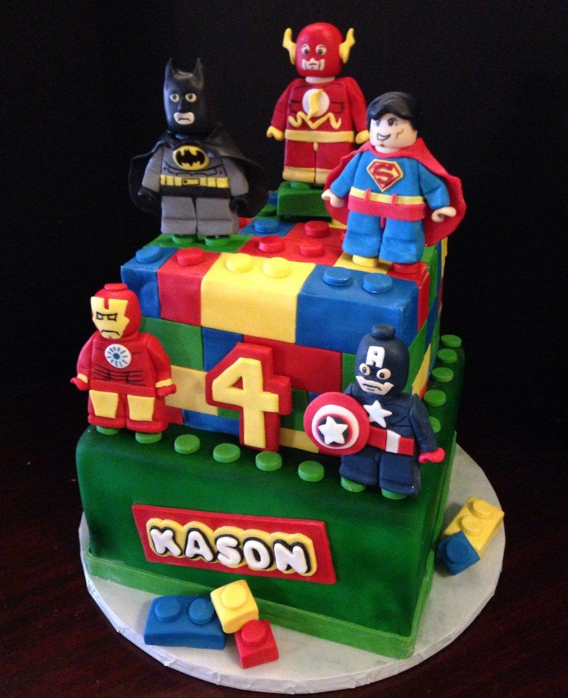 Lego Dc Comic Birthday Cake