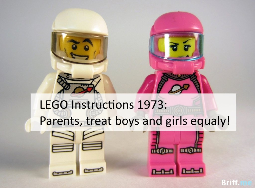 Lego Instructions 1974 Treat Boys and Girls Equaly