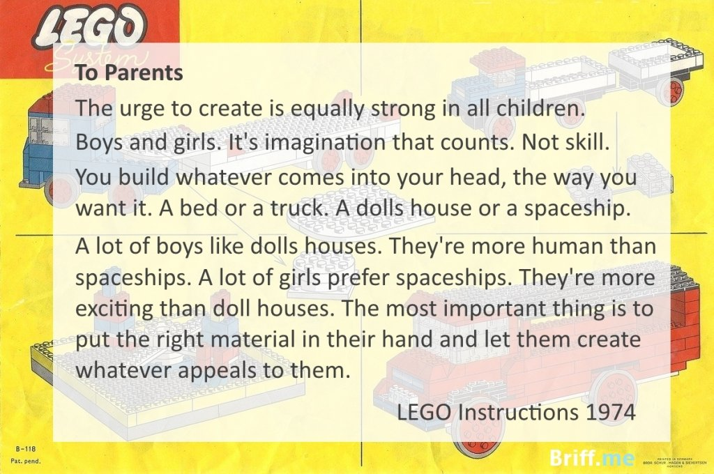 Lego Instructions Boys and Girls 1974