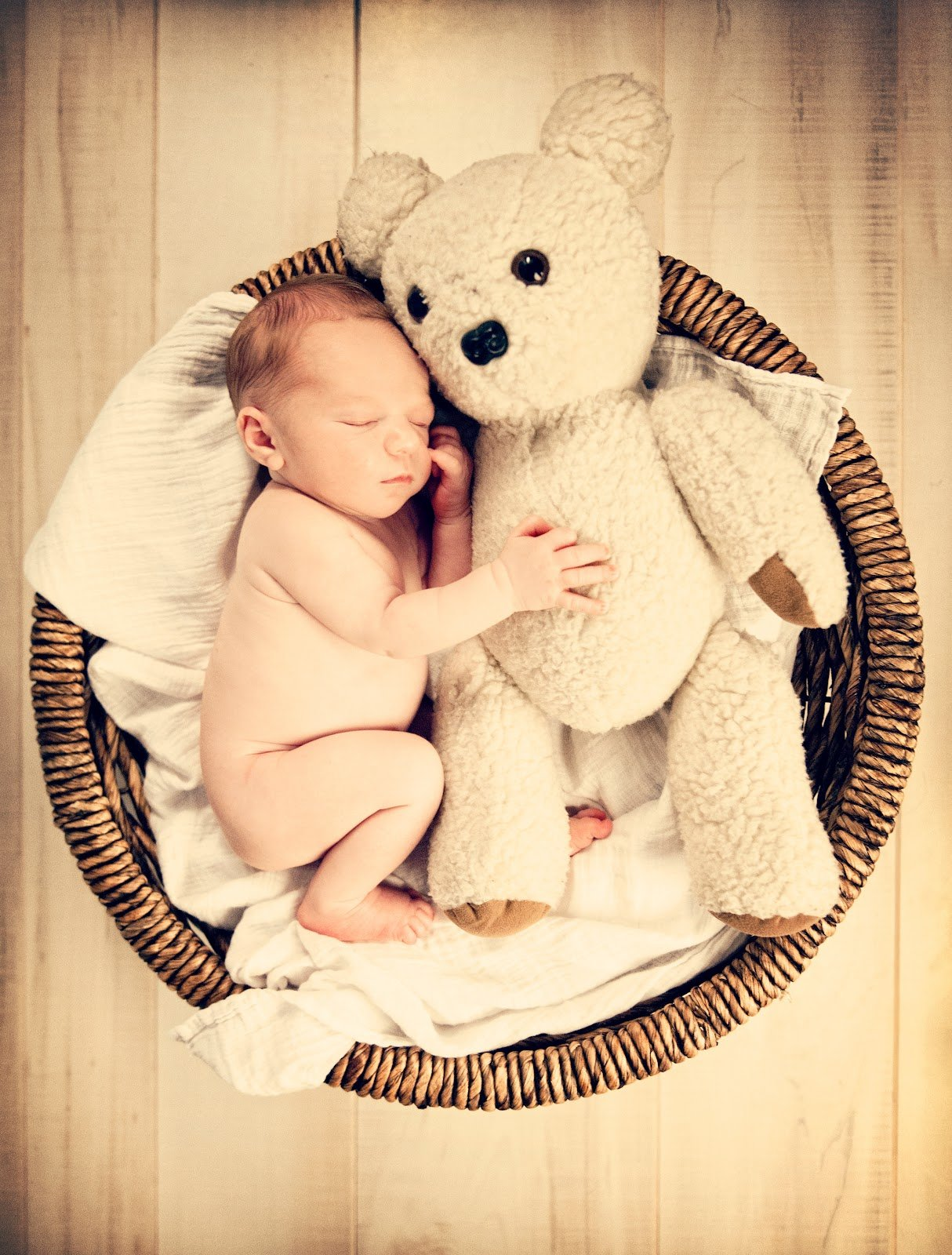 Newborn Photo Ideas - Teddy Bear