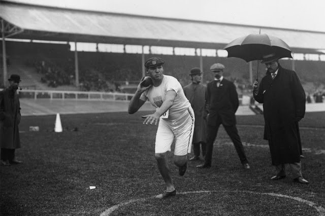 Old Sports 27 - London Olympics 1908 Shot Put Gold Medal