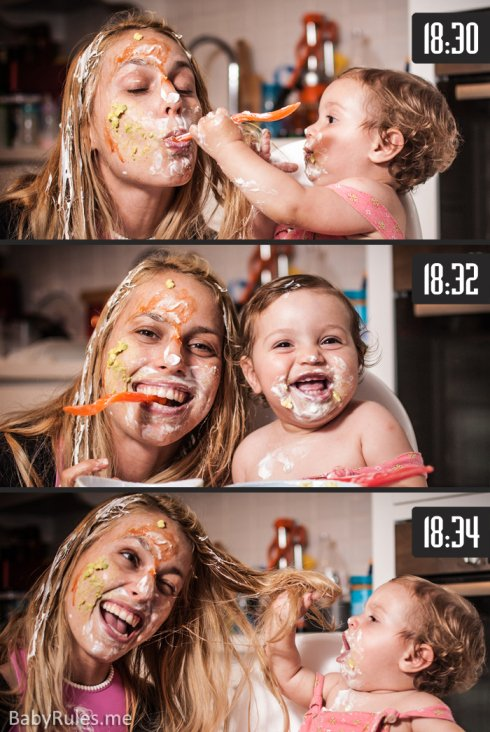 Parenting Photos 12 - Dirty Dinner