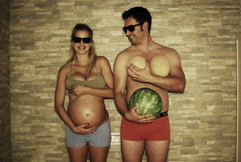 Parenting Photos 4 - Watermelon Belly
