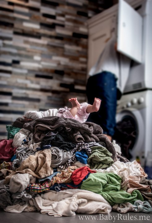 Parenting Photos 9 - Baby Laundry