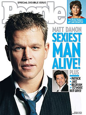 Sexiest Men 2007 Matt Damon