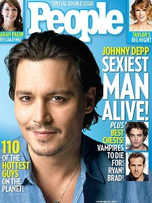 Sexiest Men 2009 Johnny Depp