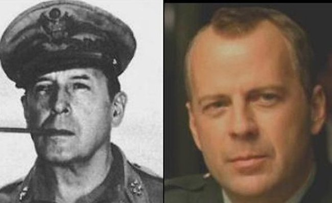Similar to Each Other 10 - Bruce Willis and WWII General Douglas MacArthur
