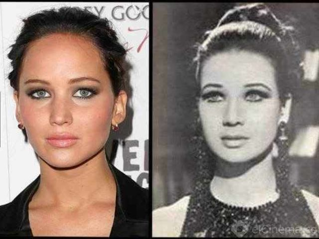 Similar to Each Other 8 - Jennifer Lawrence and her Egyptian twin-actress Zubaida Tharwat