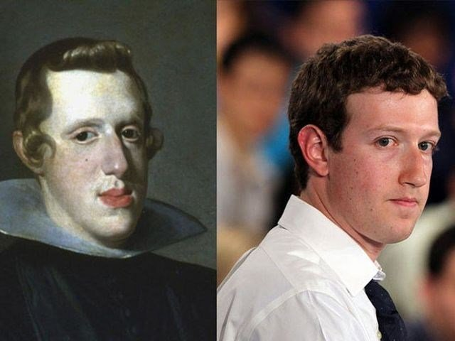 Similar to Each Other 9 - Mark Zuckerberg and Philip IV of Spain