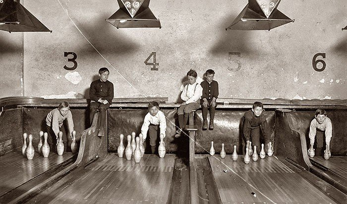 Sports before Technology - Bowling with Kids