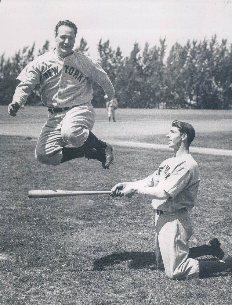 Sports before Technology - Vintage Baseball New York Yankees Lou Gehrig and Joe DiMaggio