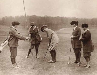 Sports before Technology - Vintage Golf Women
