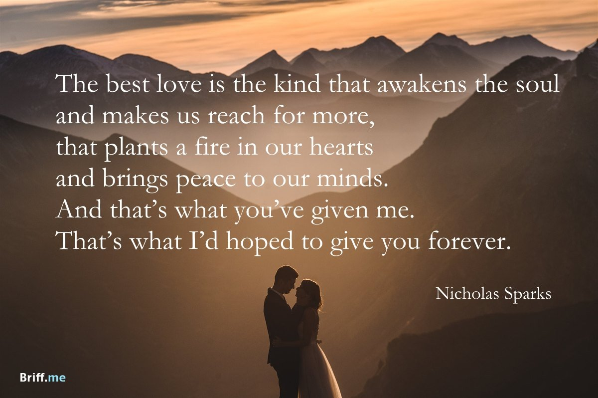 Wise Words Quote For The Best Wedding Speech. Best Wedding Quotes   Love  Forever