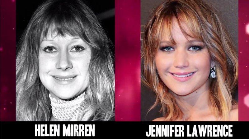 Celebrities Faces Look Alikes 1 Jennifer Lawrence Hellen Mirren