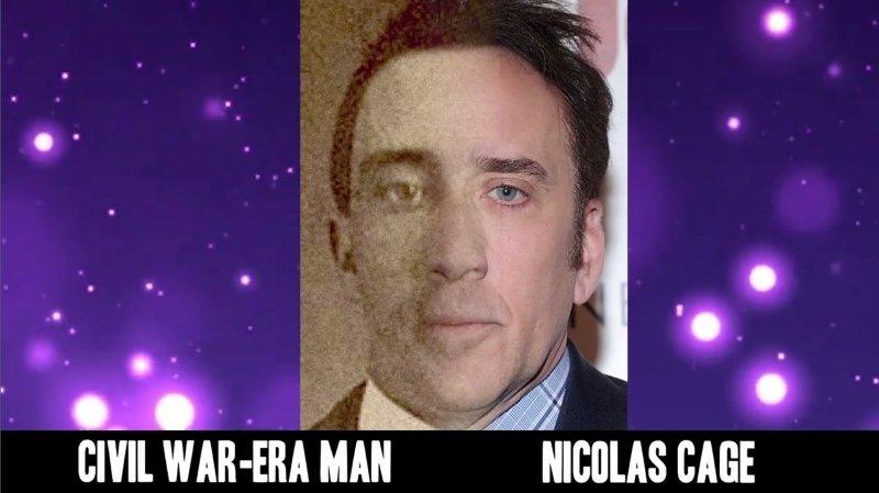 Celebrities Faces Look Alikes 11 Nicolas Cage Civil War-Era Man Mix