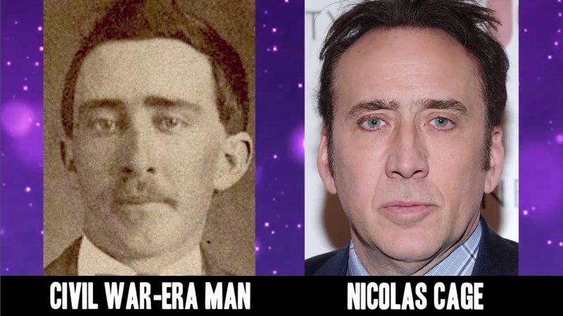 Celebrities Faces Look Alikes 11 Nicolas Cage Civil War-Era Man