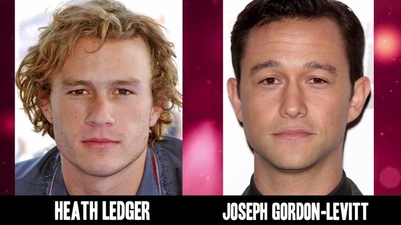 Celebrities Faces Look Alikes 2 Joseph Gordon-Levitt Heath Ledger