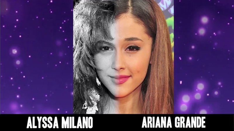Celebrities Faces Look Alikes 3 Ariana Grande Alyssa Milano Mix