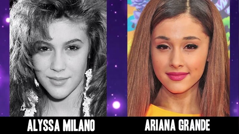 Celebrities Faces Look Alikes 3 Ariana Grande Alyssa Milano