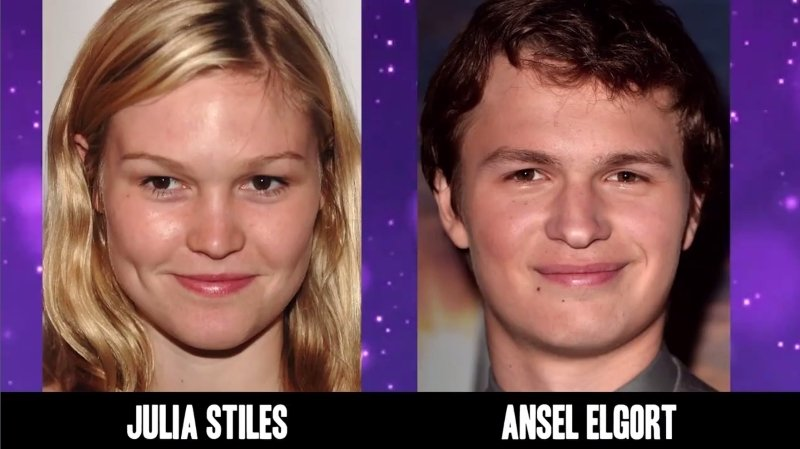 Celebrities Faces Look Alikes 4 Ansel Elgort Julia Stiles