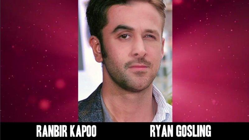 Celebrities Faces Look Alikes 7 Ryan Gosling Ranbir Kapoo Mix