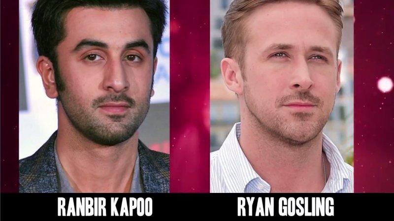 Celebrities Faces Look Alikes 7 Ryan Gosling Ranbir Kapoo