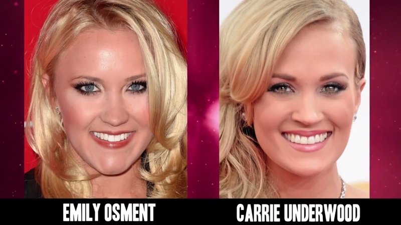 Celebrities Faces Look Alikes 8 Carrie Underwood Emily Osment