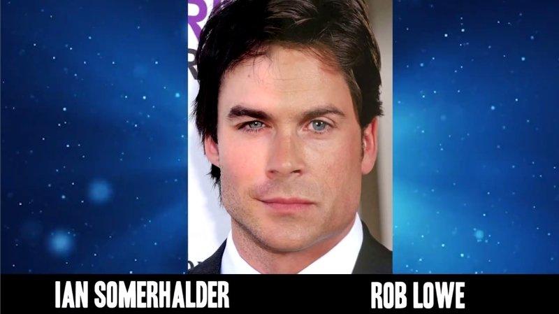 Celebrities Faces Look Alikes 9 Rob Lowe Ian Somerhalder Mix