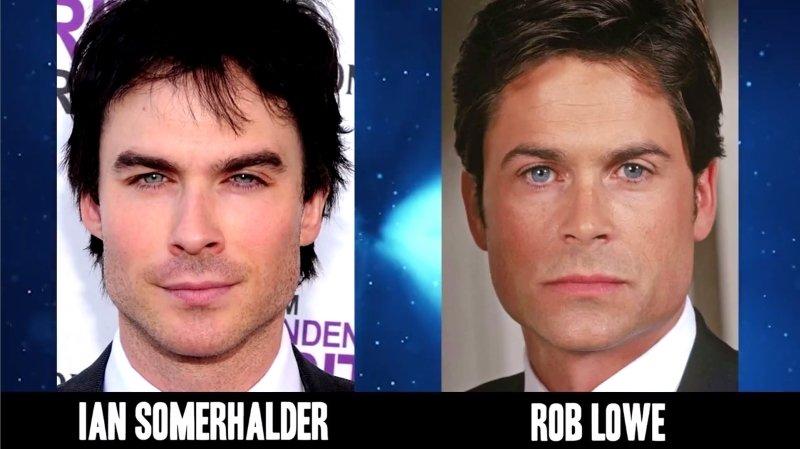 Celebrities Faces Look Alikes 9 Rob Lowe Ian Somerhalder