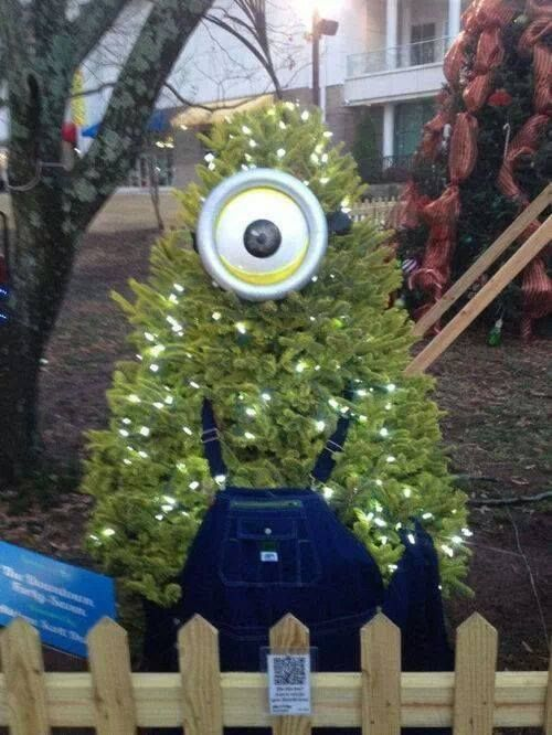 Funny Christmas Trees 10 Minion