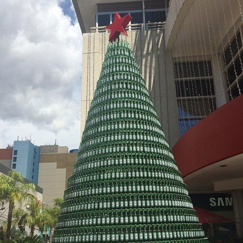 Funny Christmas Trees 7 Beer Bottles