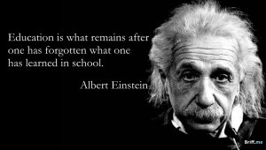 Inspirational Quotes: Albert Einstein about Education