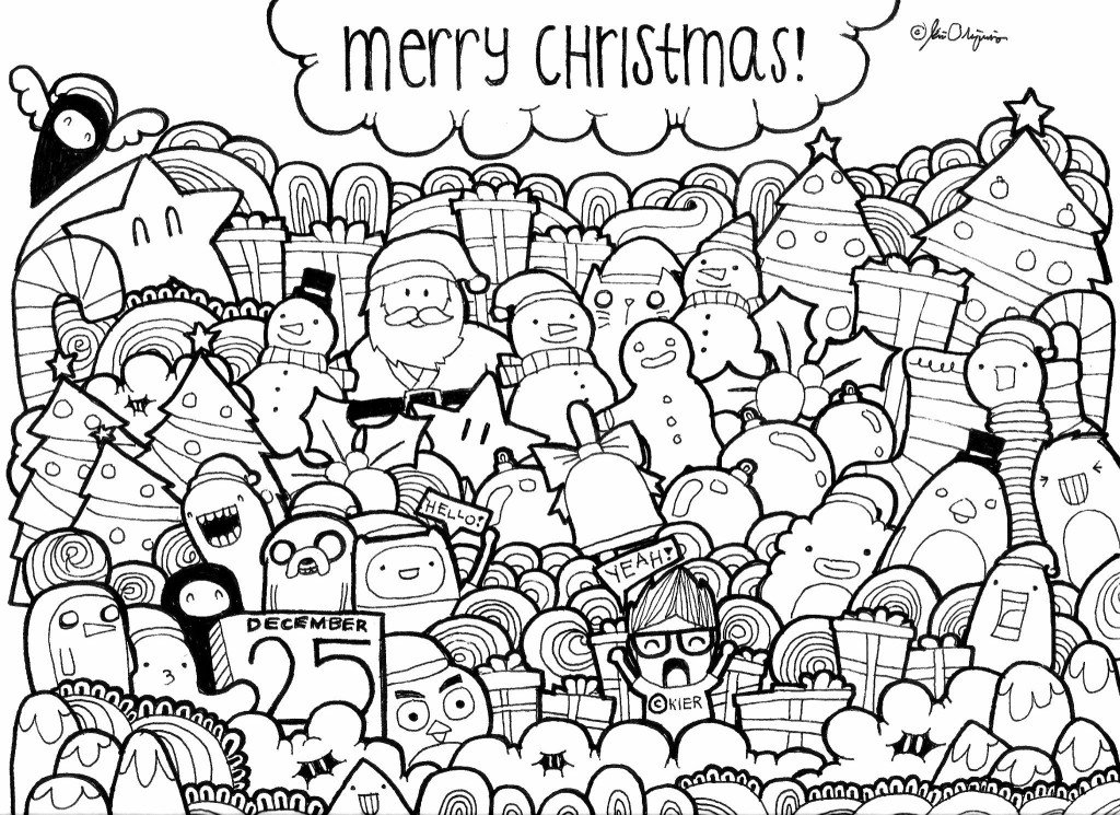Merry Christmas Original Greetings Doodle 4