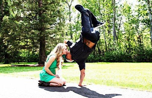 Romantic Kiss for New Year's Eve - One Hand Stand