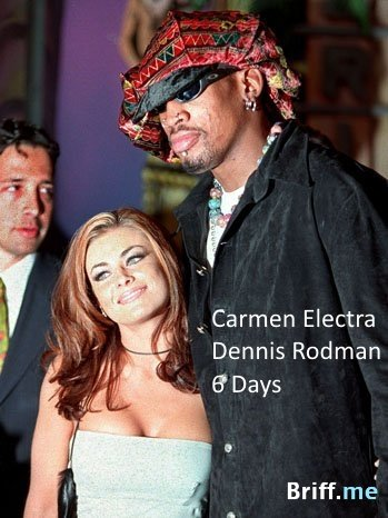 Short Marriage - Carmen Electra and Dennis Rodman - 6 Days