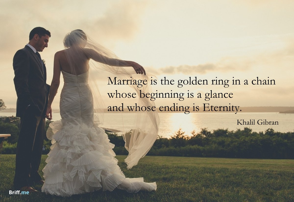 Wedding Quotes about Love Marriage and a Ring