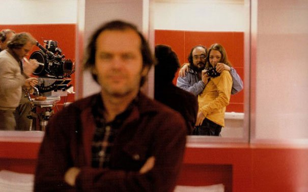 Behind The Scenes 10 - Stanley Kubrick with his daughter on The Shining